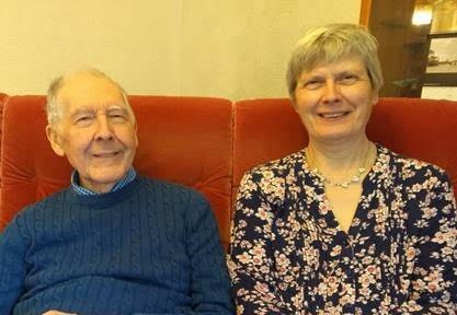 Janet Wood, a member of the OCN Partnership Group. Pictured with her father.