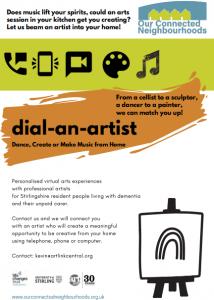 Dial-an-artist leaflet