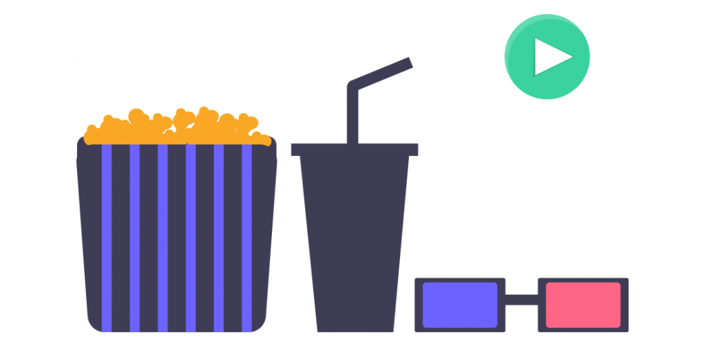 Graphic showing some popcorn and a drink